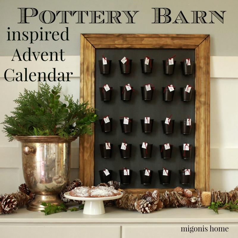 Pottery Barn calendar poster.