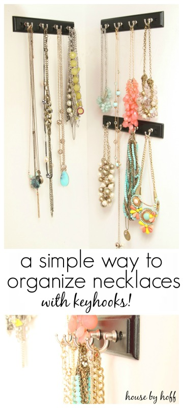 A Simple Way to Organize Necklaces with Keyhooks via House by Hoff