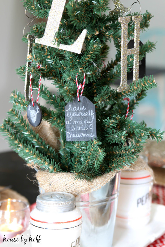 Chalkboard Ornament via House by Hoff