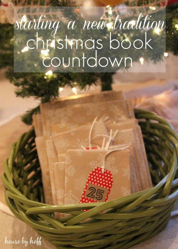 Starting a new tradition Christmas book countdown poster.