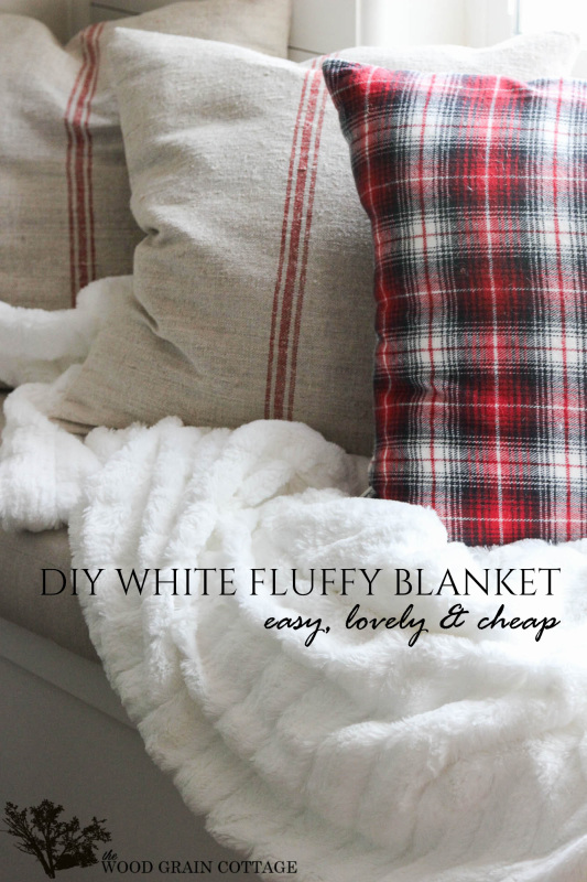 DIY White Fluufy Blanket- Farmhouse Style! by The Wood Grain Cottage-13 copy (2)