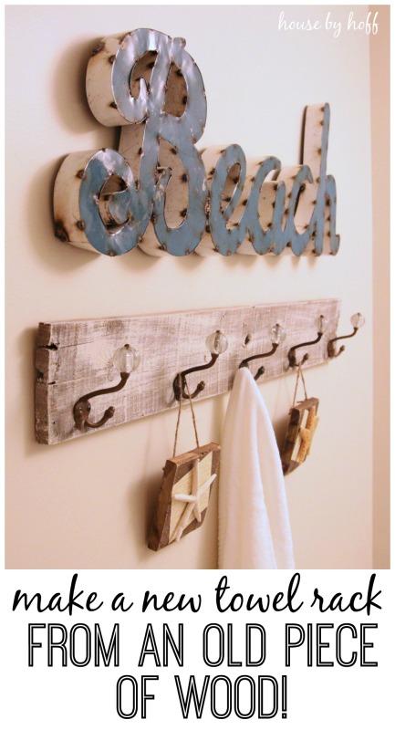 pallet wood towel rack1