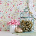 Girly Decor: Tissue Paper Poufs in a Birdcage