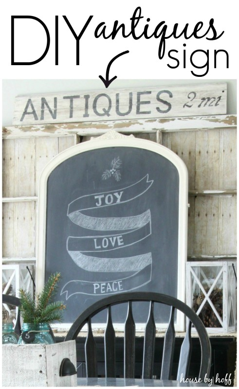 DIY Antiques Sign via House by Hoff