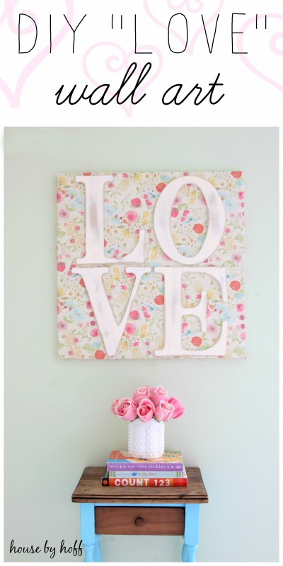 DIY Love Wall Art via House by Hoff