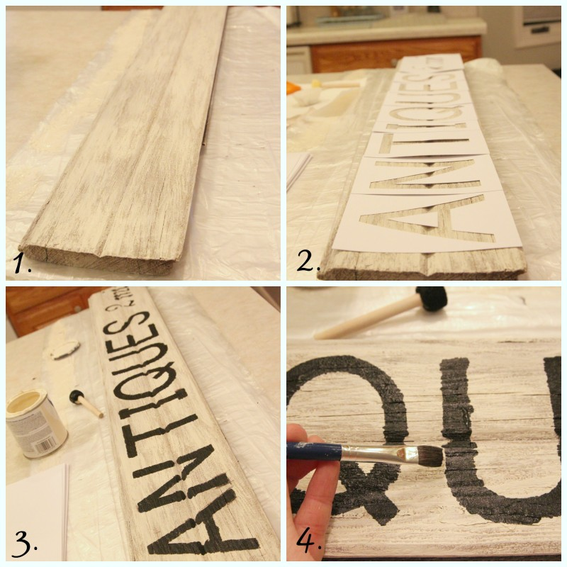DIY Reclaimed Wood Antiques Sign
