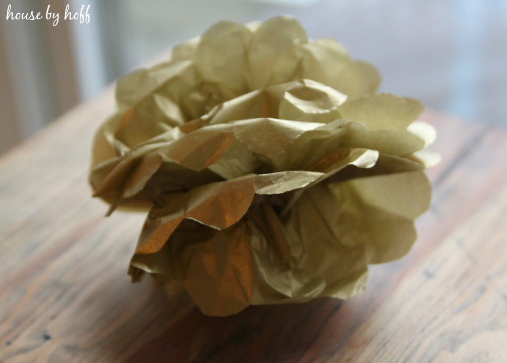 How to Make a Tissue Paper Pouf via House by Hoff 1