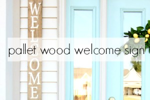 Pallet Wood Welcome Sign