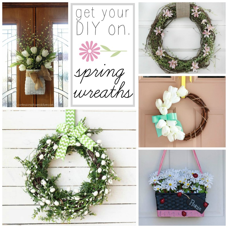 Get Your DIY On Spring Wreaths Collage