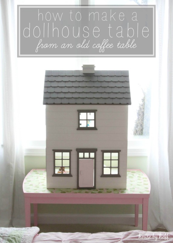 How to Make a Dollhouse Table From An Old Coffee Table via House by Hoff