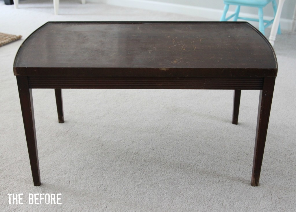 How to Make a Dollhouse Table From An Old Coffee Table via House by Hoff5