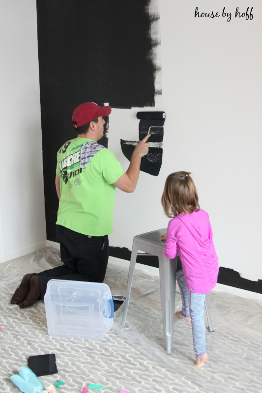How to Paint a Chalkboard Wall via House by Hoff