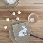 Burlap + Beads Easter Bunny Pennants