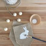 Burlap + Beads Easter Bunny Pennants
