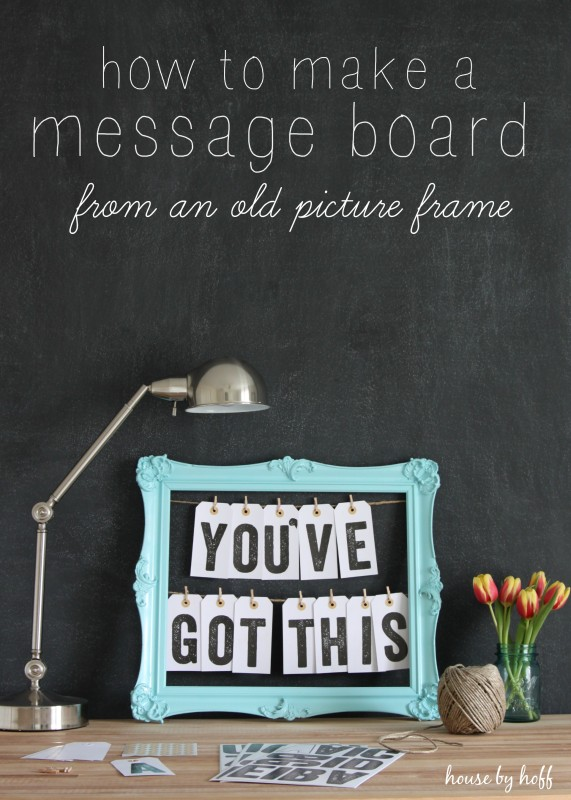 How to Make a Message Board From an Old Picture Frame via House by Hoff