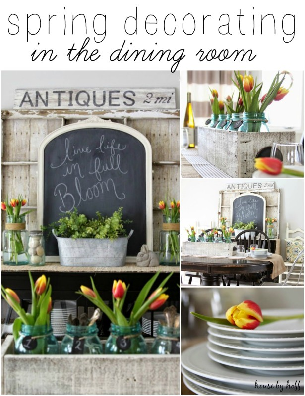 Spring Decorating in the Dining Room Via House by Hoff