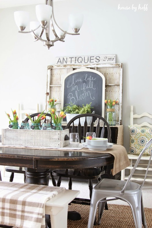 home decor dining room. Spring Decorating in the Dining Room via House by Hoff