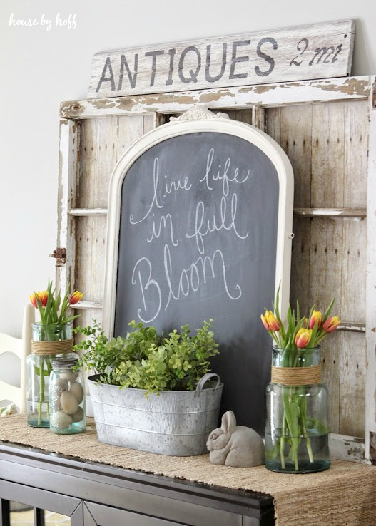 Spring Mantel Decorating ideas -farmhouse