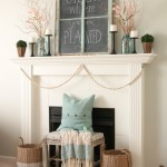 My Spring Mantel
