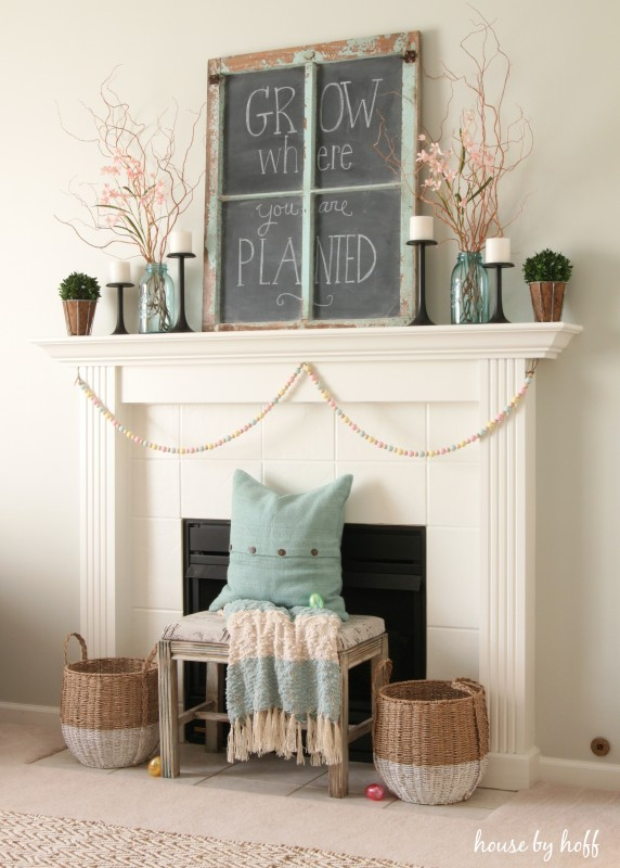 Spring Mantel via House by Hoff