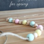 Wood Bead Garland for Spring