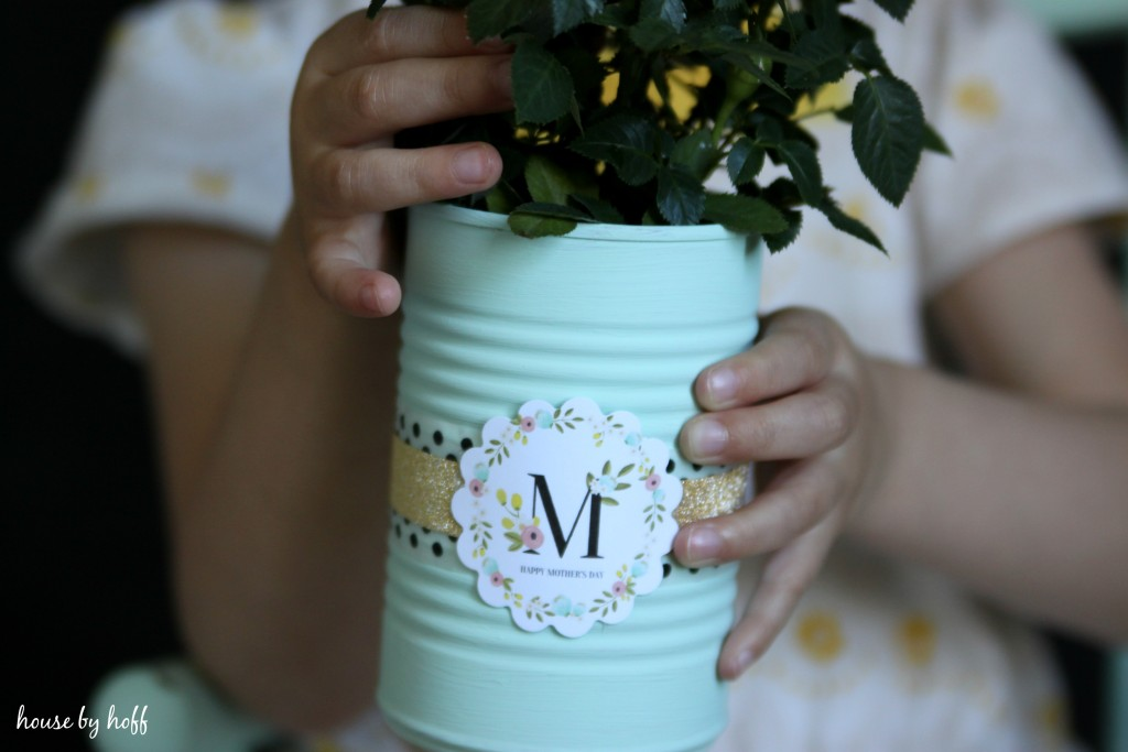 Painted Tin Can Mother's Day Gift via House by Hoff 2