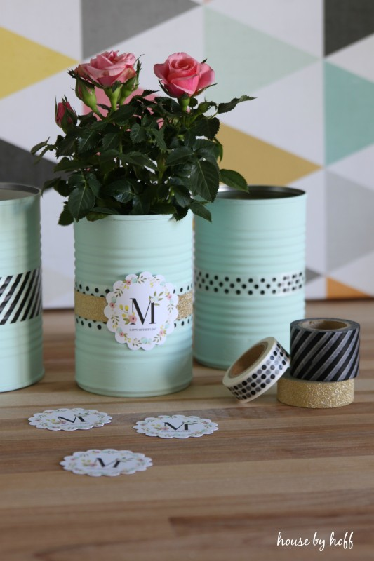Painted Tin Cans A Mother 39 S Day Gift Idea House By Hoff