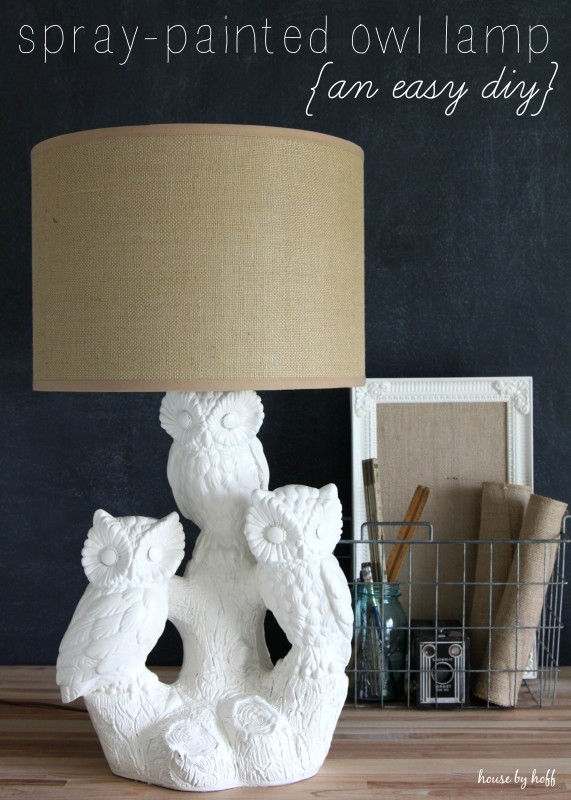 Spray Painted Lamp via House by Hoff