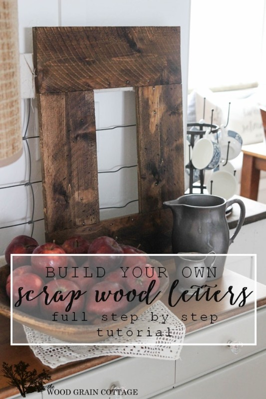 Wood Letters made from Scrap Wood. Full tutorial by The Wood Grain Cottage