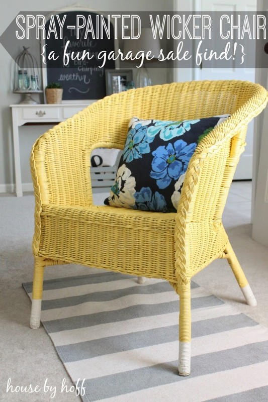spray-painted-wicker-chair-1