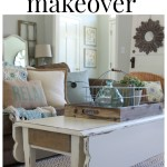 Rustic-Chic Coffee Table Makeover via House b Hoff