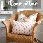 Tea Towel Throw Pillow