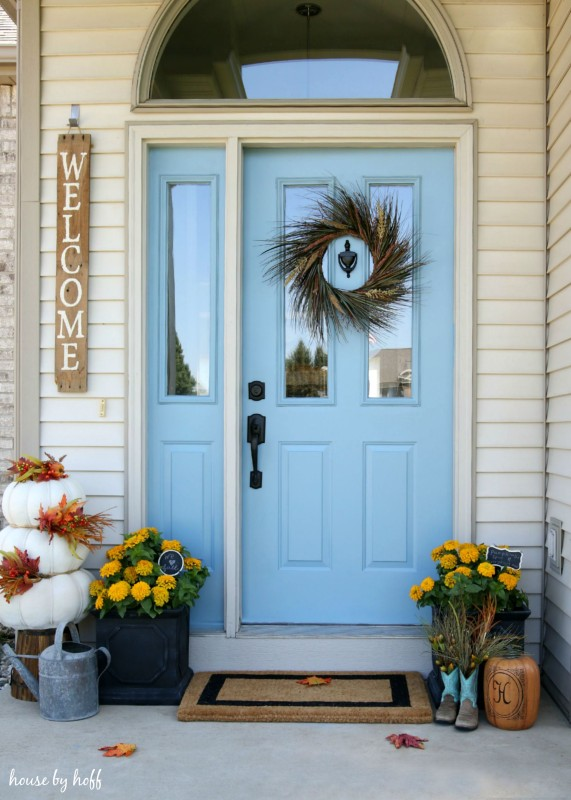 Fall Front Door via House by Hoff1