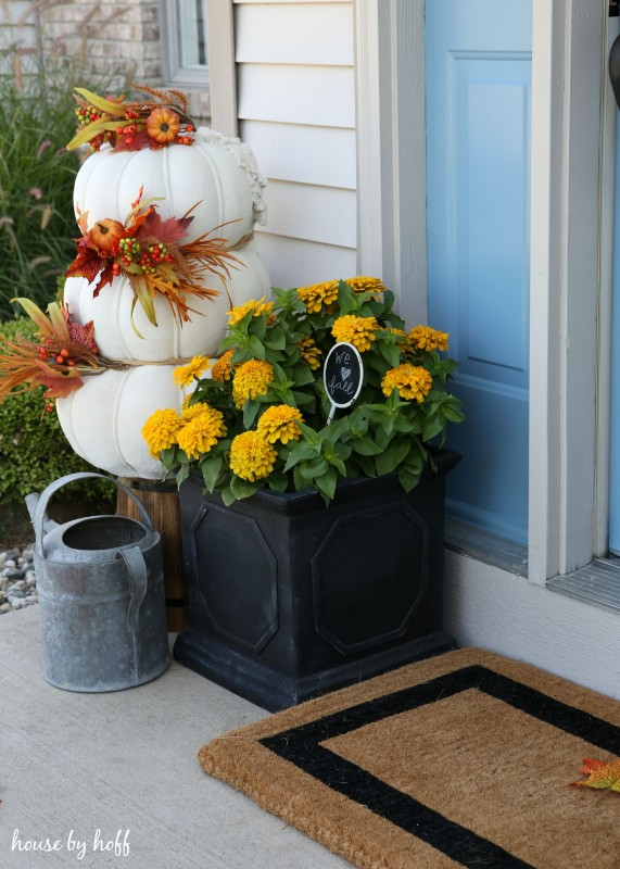 Fall Front Stoop via House by Hoff