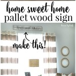 Home Sweet Home Pallet Wood Sign via House by Hoff