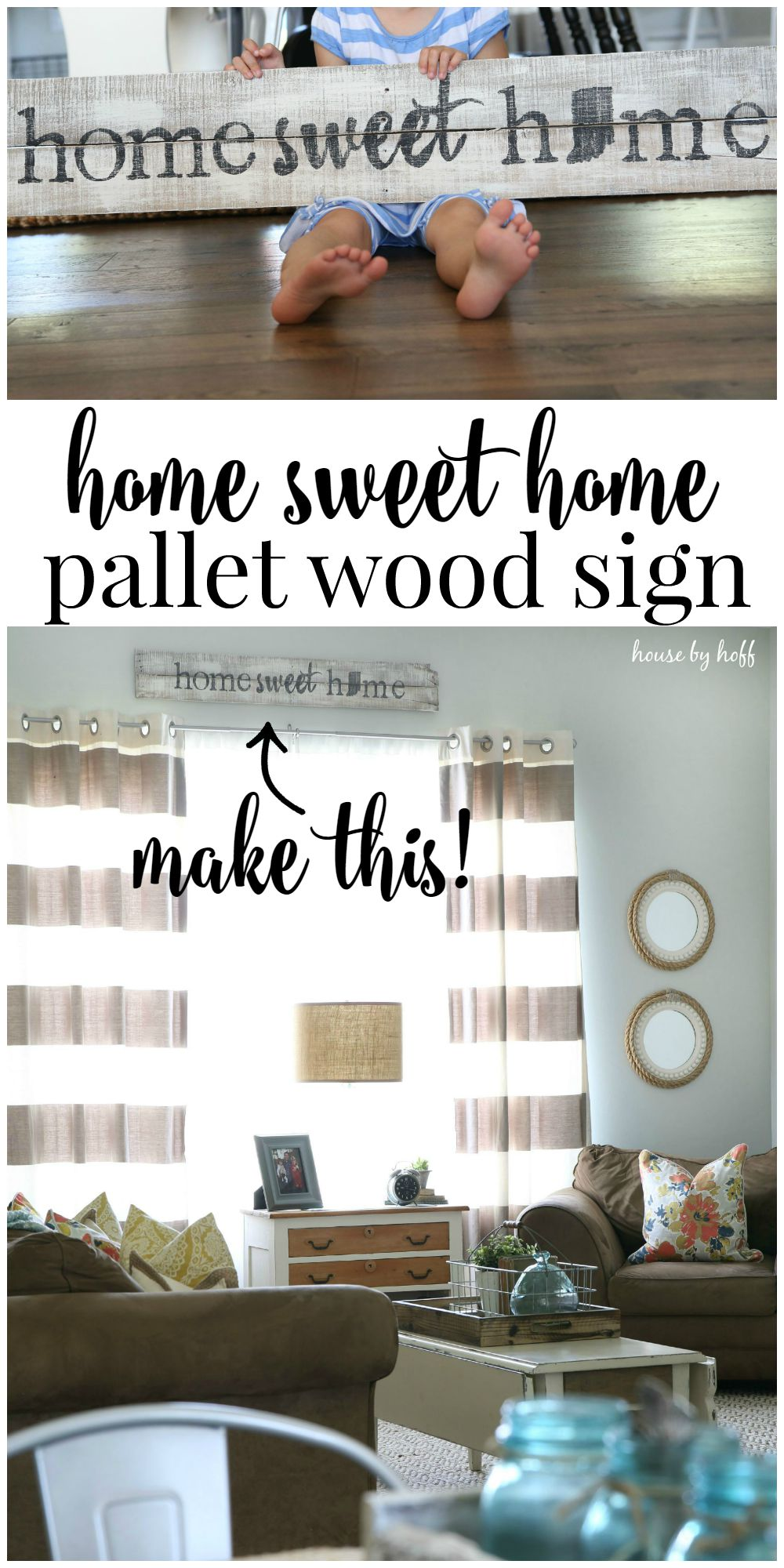 Pallet Wood Sign Home Sweet Home House By Hoff