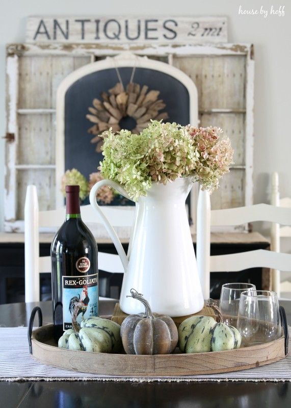 Fall Dining Room + 3 Tips for Fighting Through Decorating Dilemmas via House by Hoff