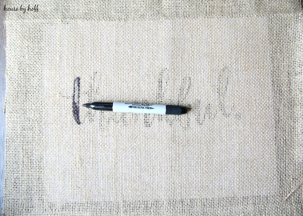 How to Make Perfect Letters on Burlap via House by Hoff4