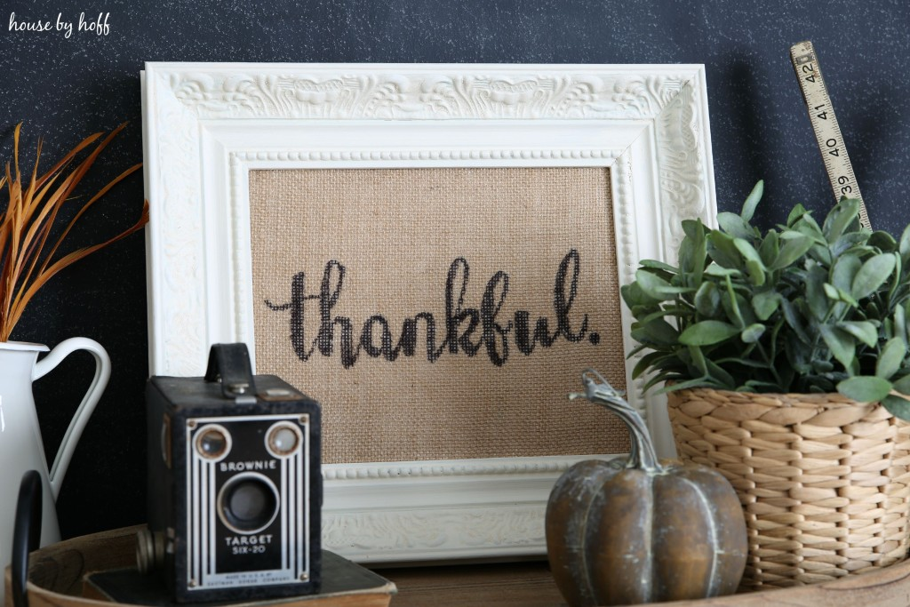 How to Make Perfect Letters on Burlap via House by Hoff9