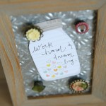 Tin Ceiling Tile Message Board {The Great Craft Swap}