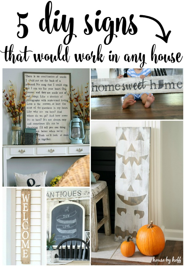 5 Diy Signs That Would Work In Any House House By Hoff