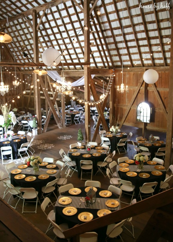A Rustic-Glam Wedding Reception via House by Hoff