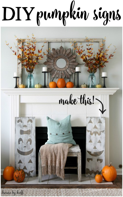 DIY Pumpkin Signs via House by Hoff