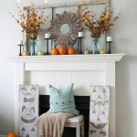 Pumpkin Mantel via House by Hoff9