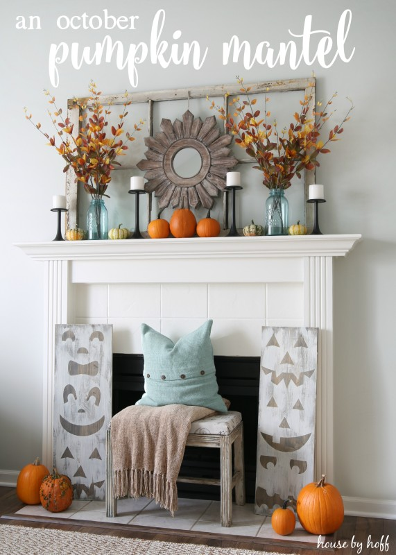 Pumpkin Mantel via House by Hoff9