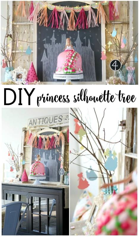 DIY Princess Silhouette Tree via House by Hoff