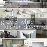 Gray and White Kitchen Dreaming
