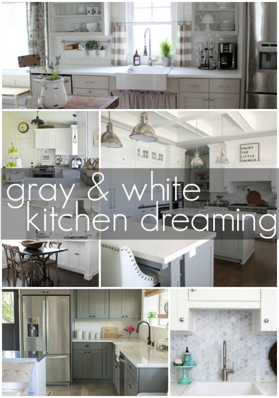 Gray and White Kitchen Dreaming via House by Hoff