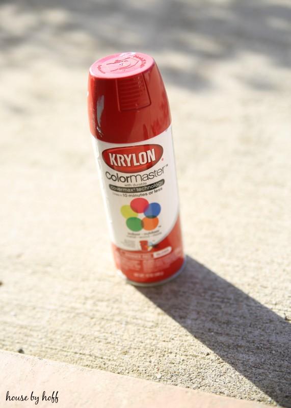 A can of Krylon spray paint.
