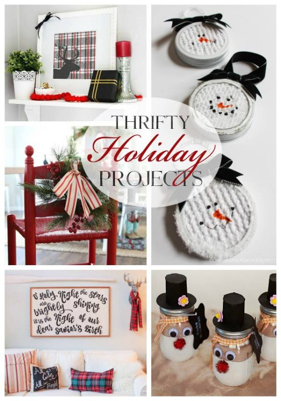 Thrifty holiday projects poster.